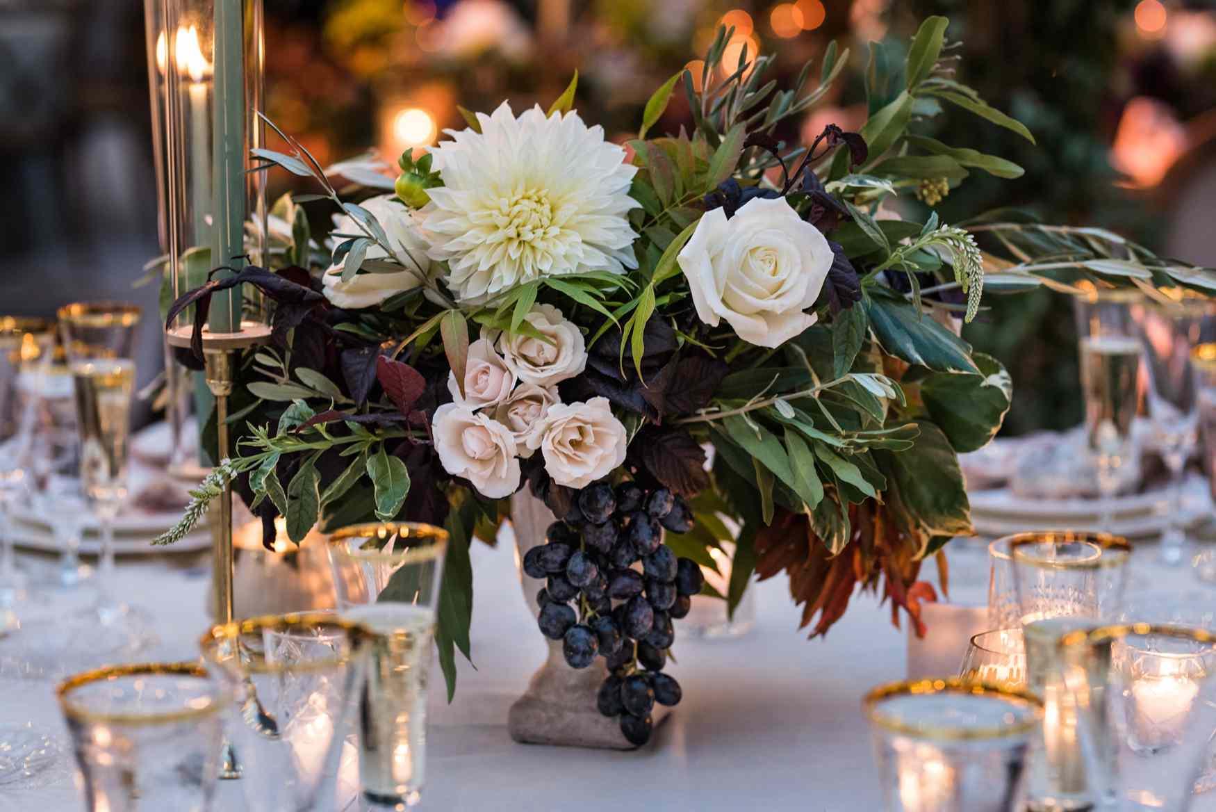 Floral arrangement detail