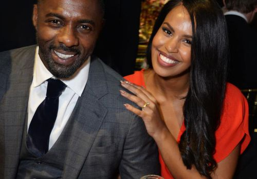 Idris Elba and Sabrina Dhowre attend The 64th Evening Standard Theatre Awards at the Theatre Royal in London, England.