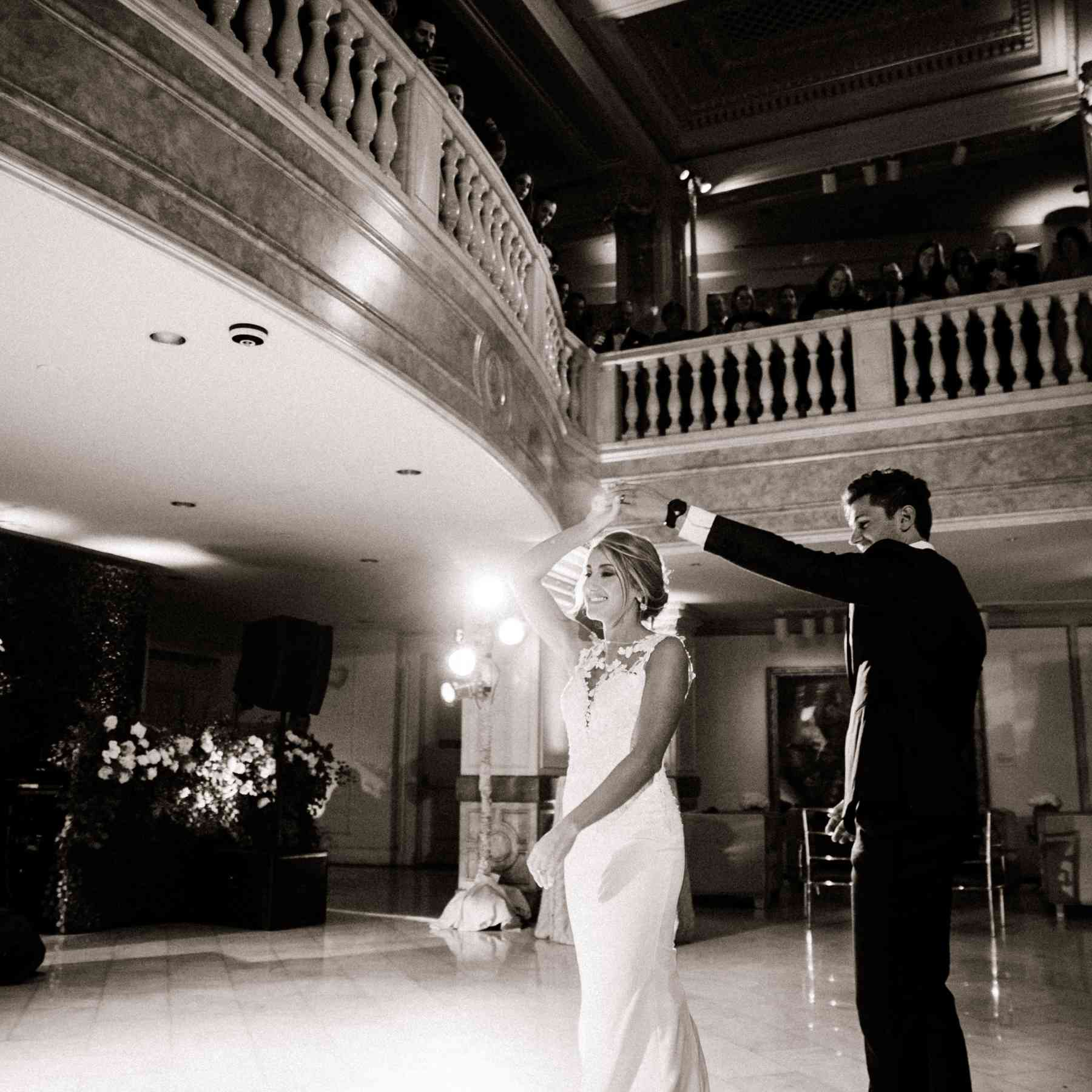 Bride and groom first dance song
