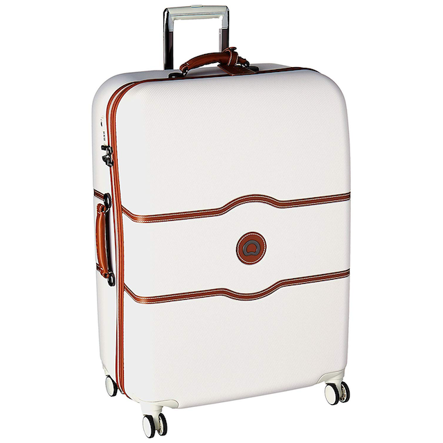 Delsey Paris Chatelet Hard+ Large Checked Spinner Suitcase