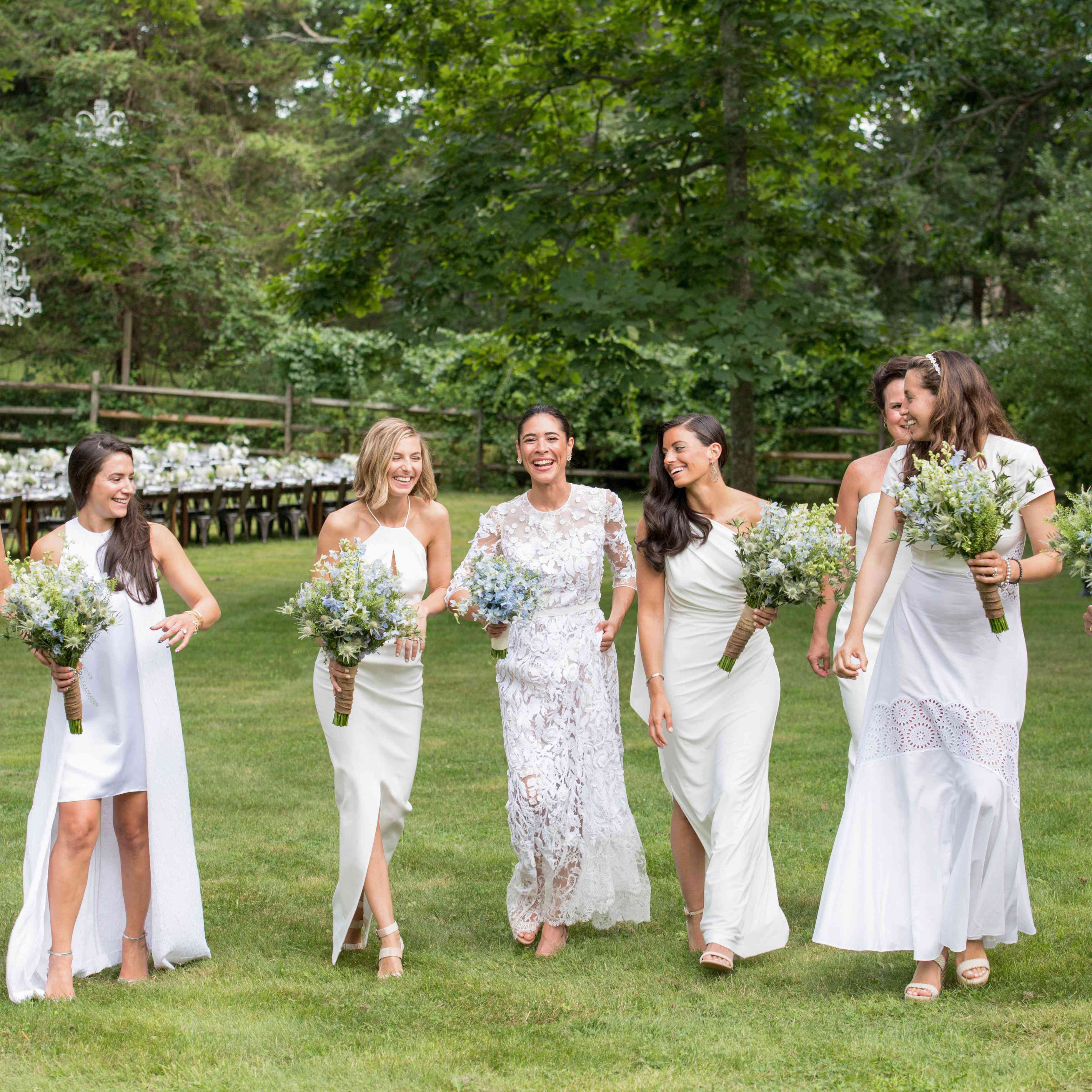 15 White Bridesmaids Dresses That Prove This Trend Is Here