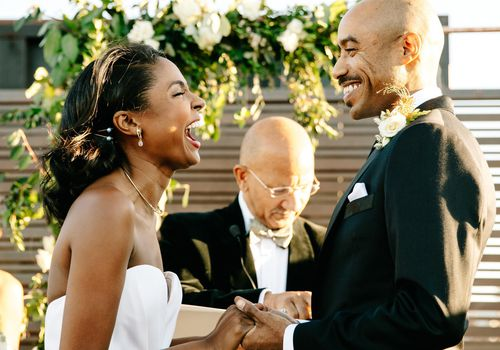 Couple during wedding ceremony
