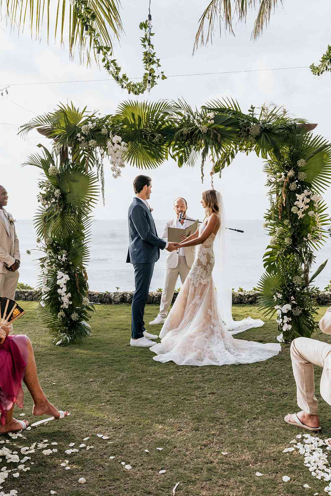 couple at wedding altar