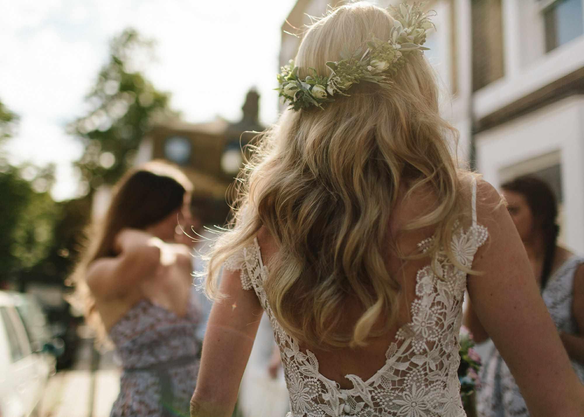 Bridal floral crown