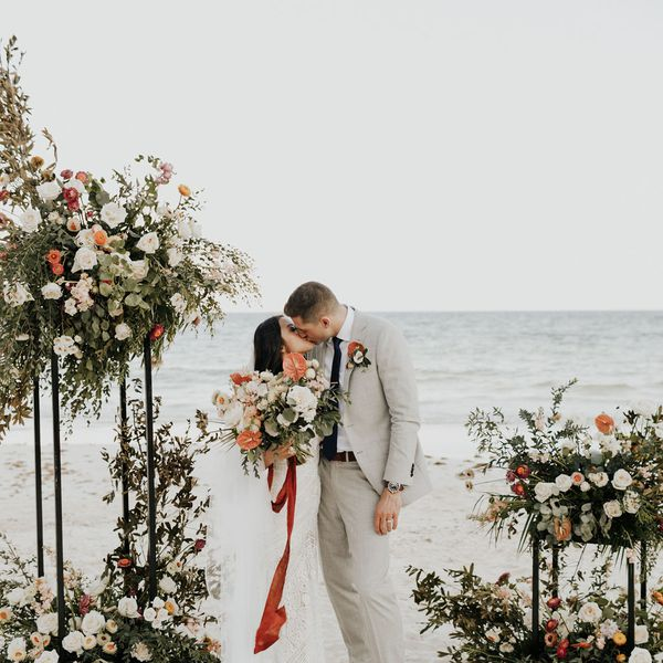 Katy Guo and Dustin Cox married in Tulum, Mexico.