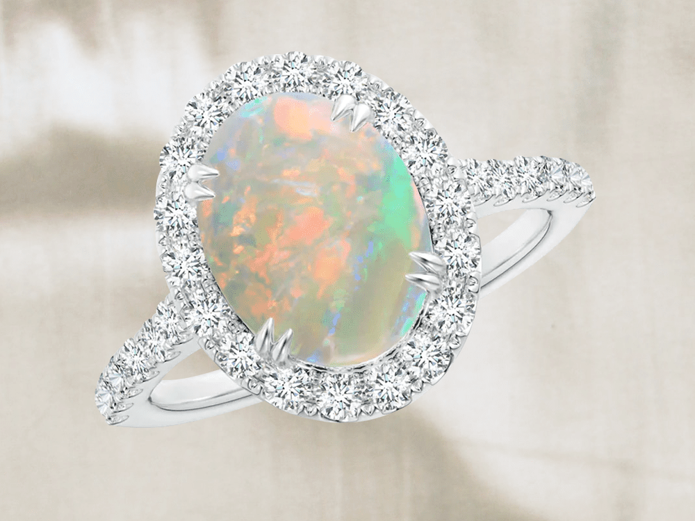 14k Gold Opal Ring Gifts For Her Natural Opal Ring Stacking Ring Minimalist Ring Sunflower Dainty Ring Promise Ring Birthstone Ring