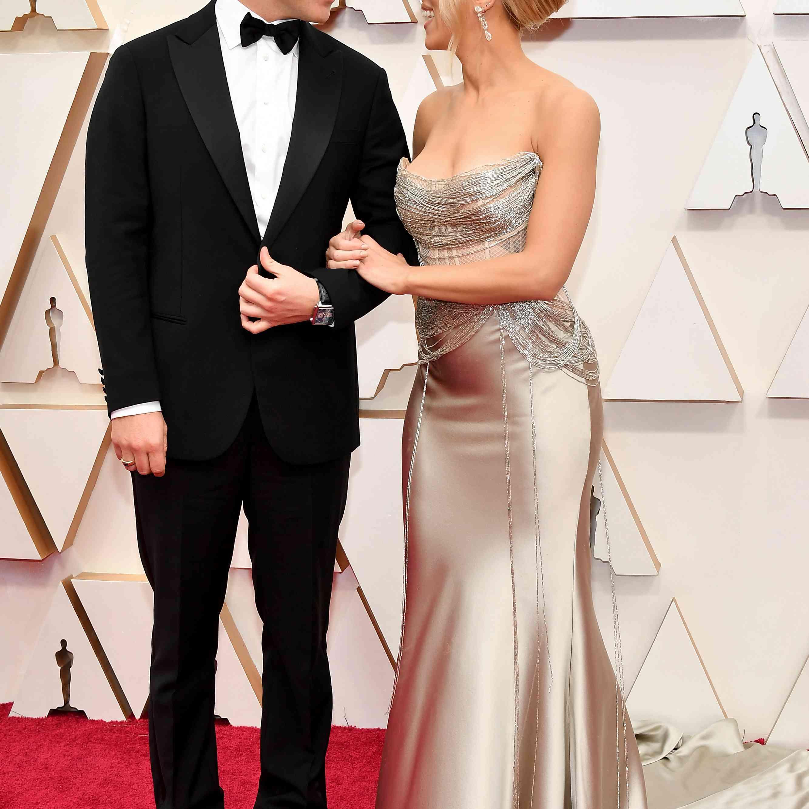 Colin Jost and Scarlett Johansson The Oscars