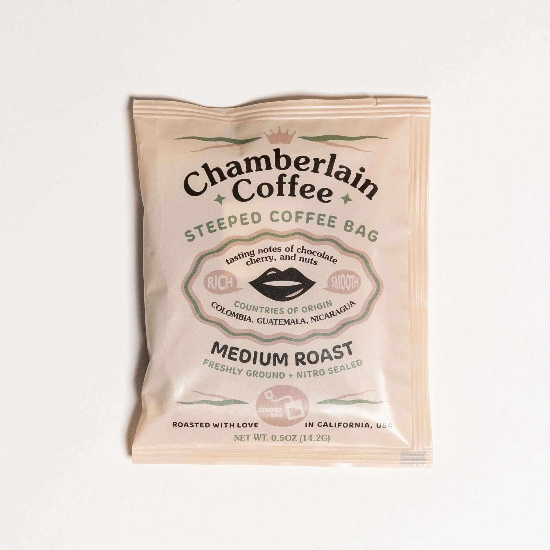 Chamberlain Coffee Steeped Coffee Bags