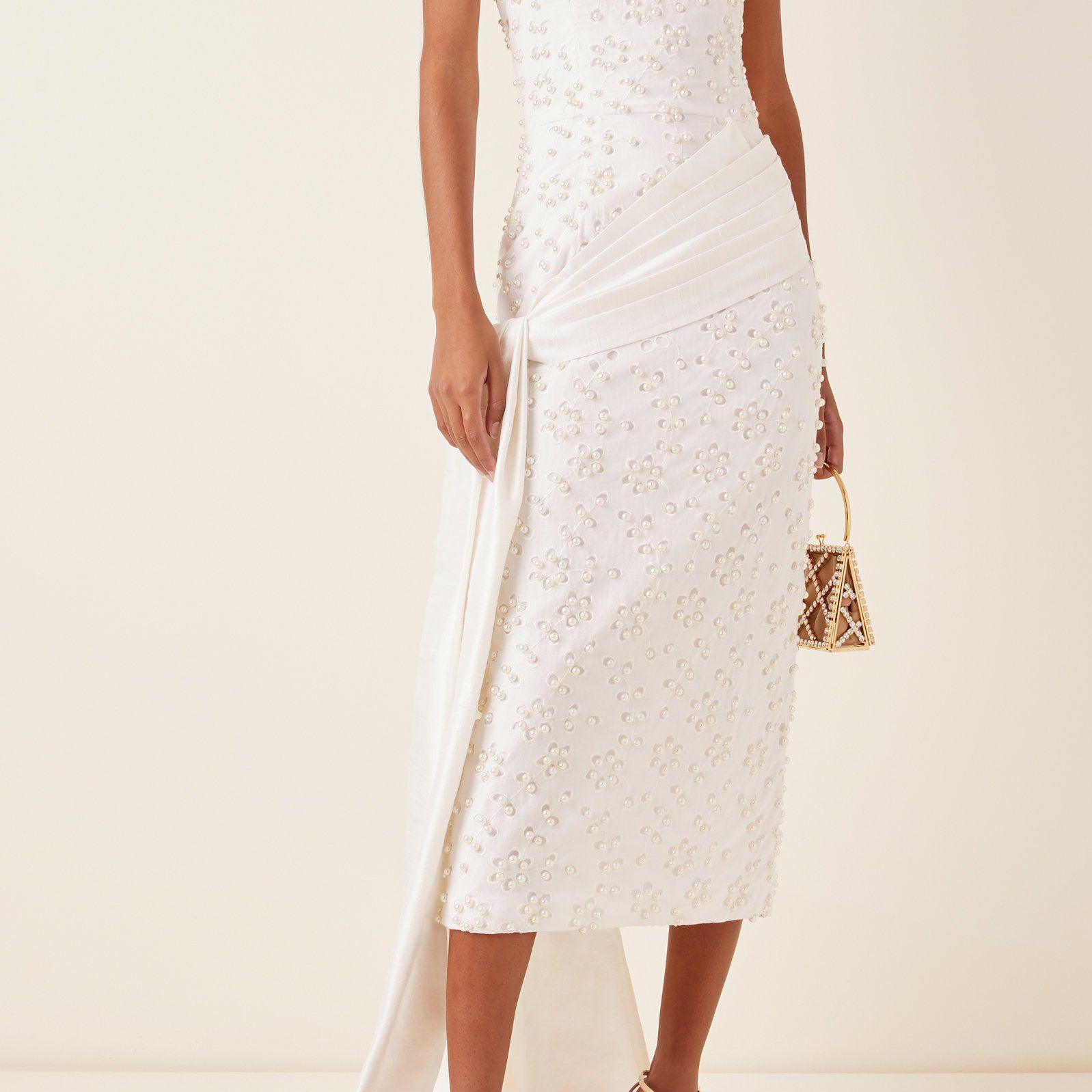 pearl embellished dress