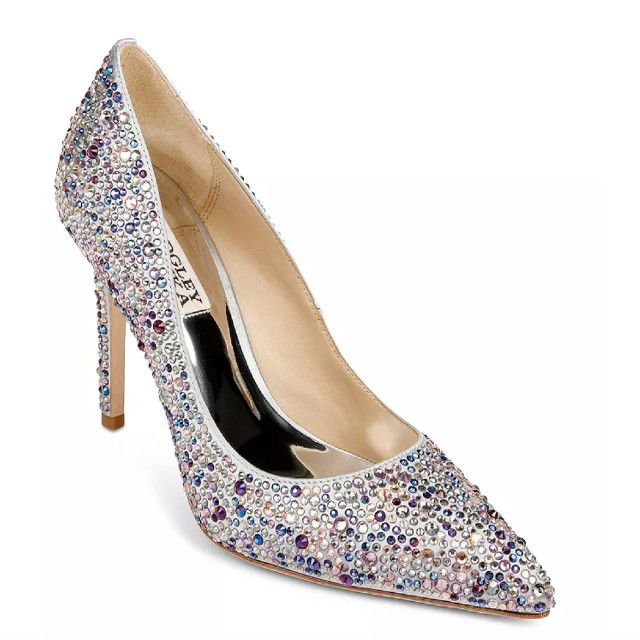 sparkly heels covered in gems