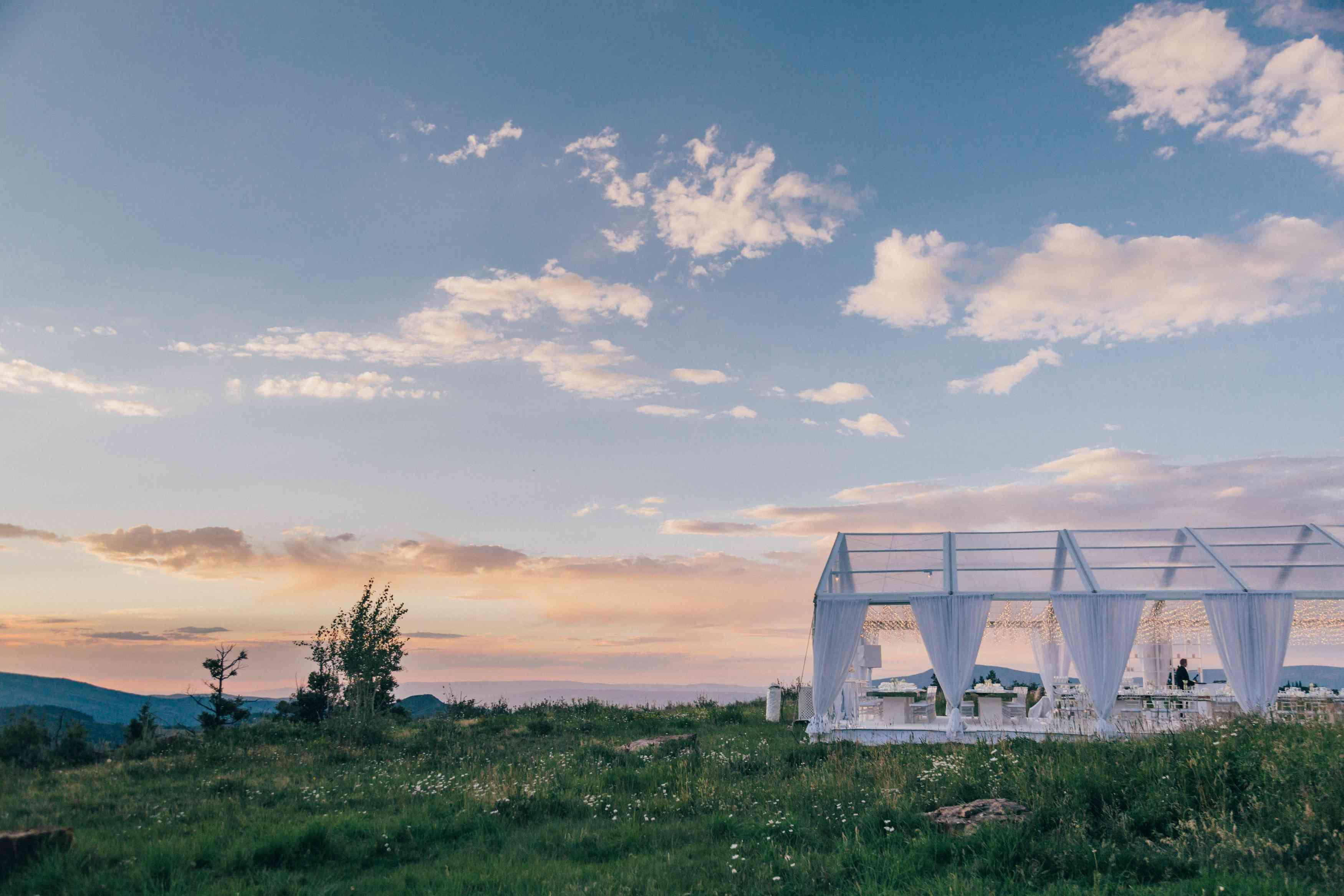 <p>Reception tent</p><br><br>