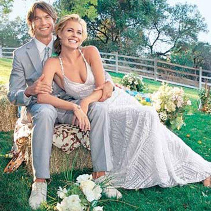 Rebecca Romijn marries Jerry O'Connell in Ralph Lauren, 2007