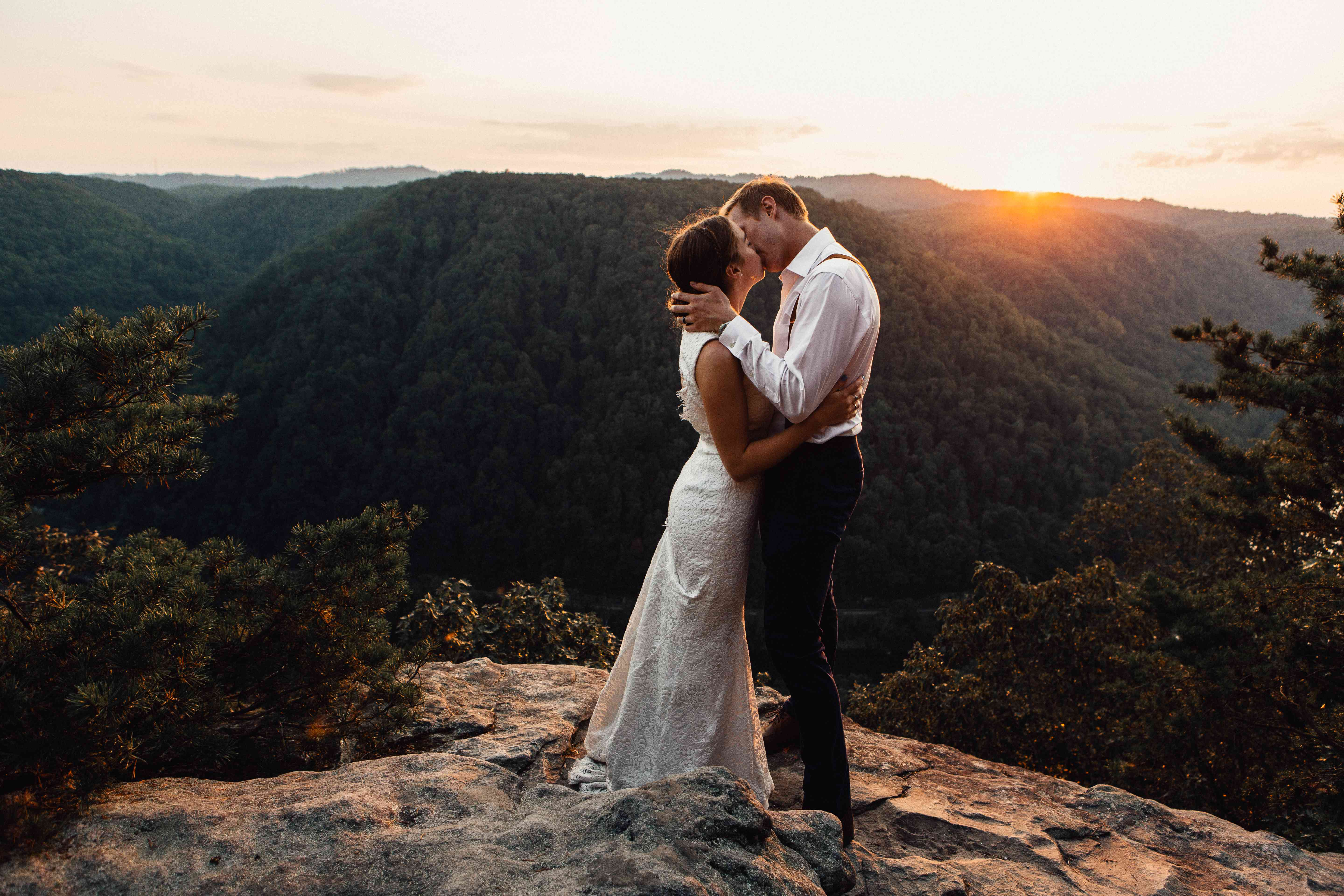 <p>Wedding photo at Adventures on the Gorge</p>