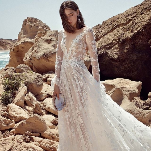 The 28 Best Long Sleeved Wedding Dresses Of 2021