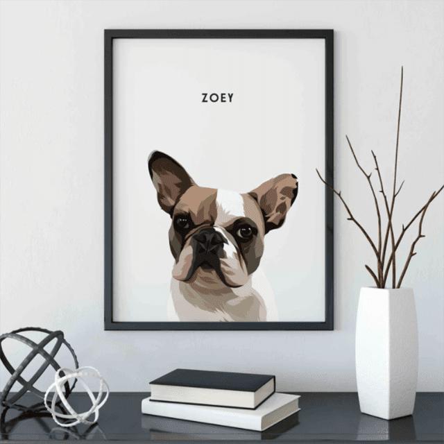 West & Willow Custom Pet Portrait