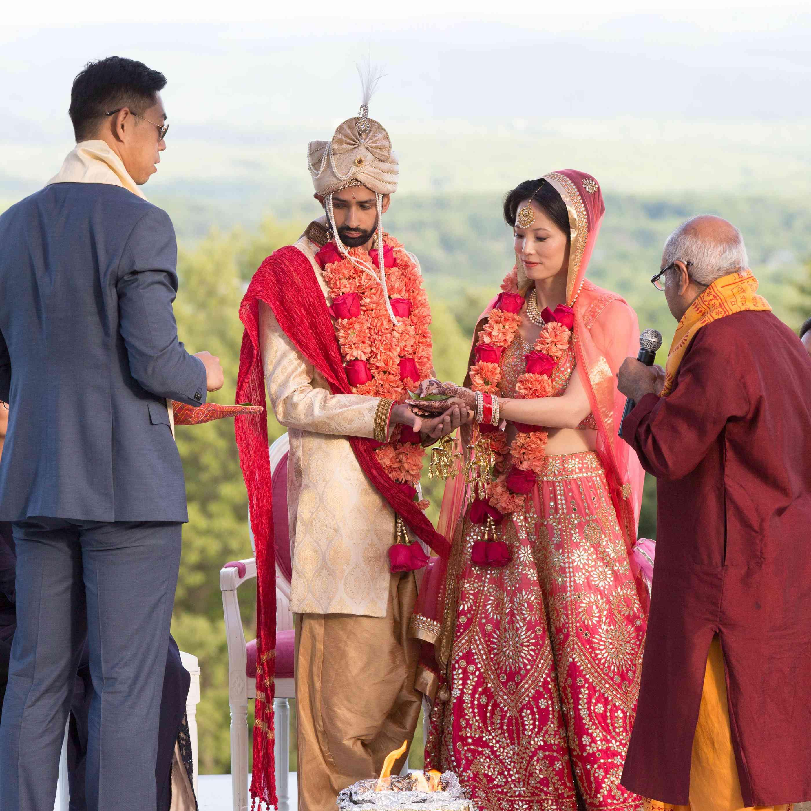 Homam ceremony in hindu wedding