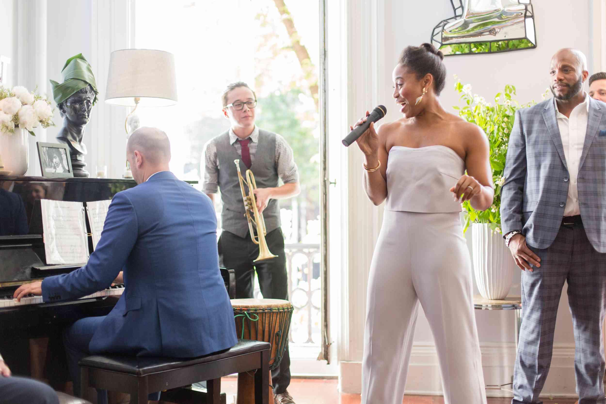 Bride Performing at Reception