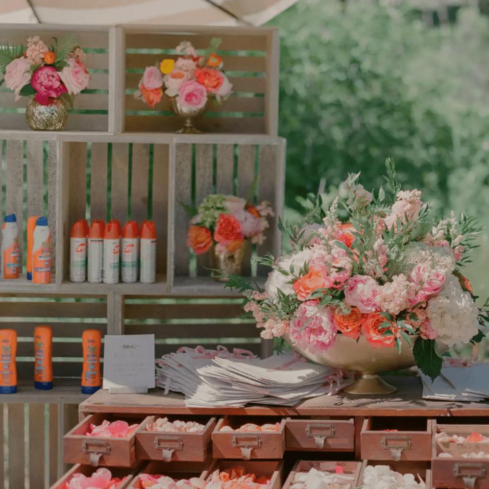 Flower petal bar