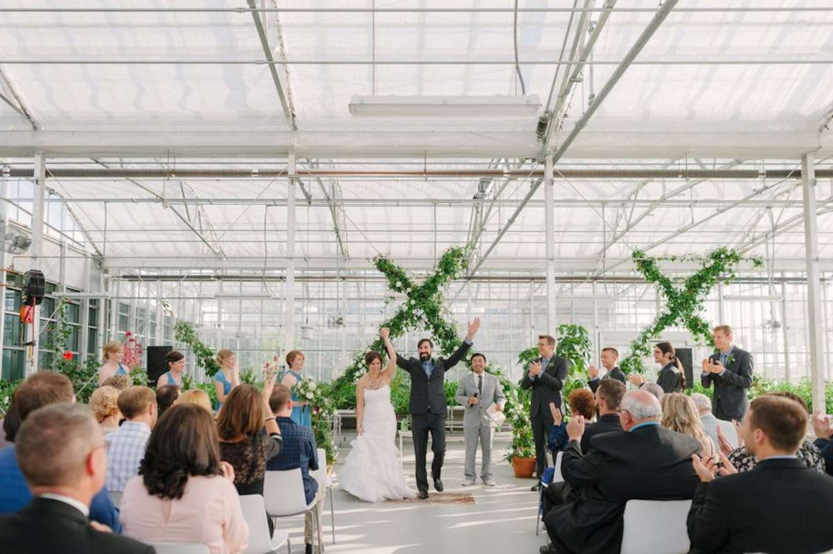 Wedding ceremony at Downtown Market Grand Rapids in Michigan