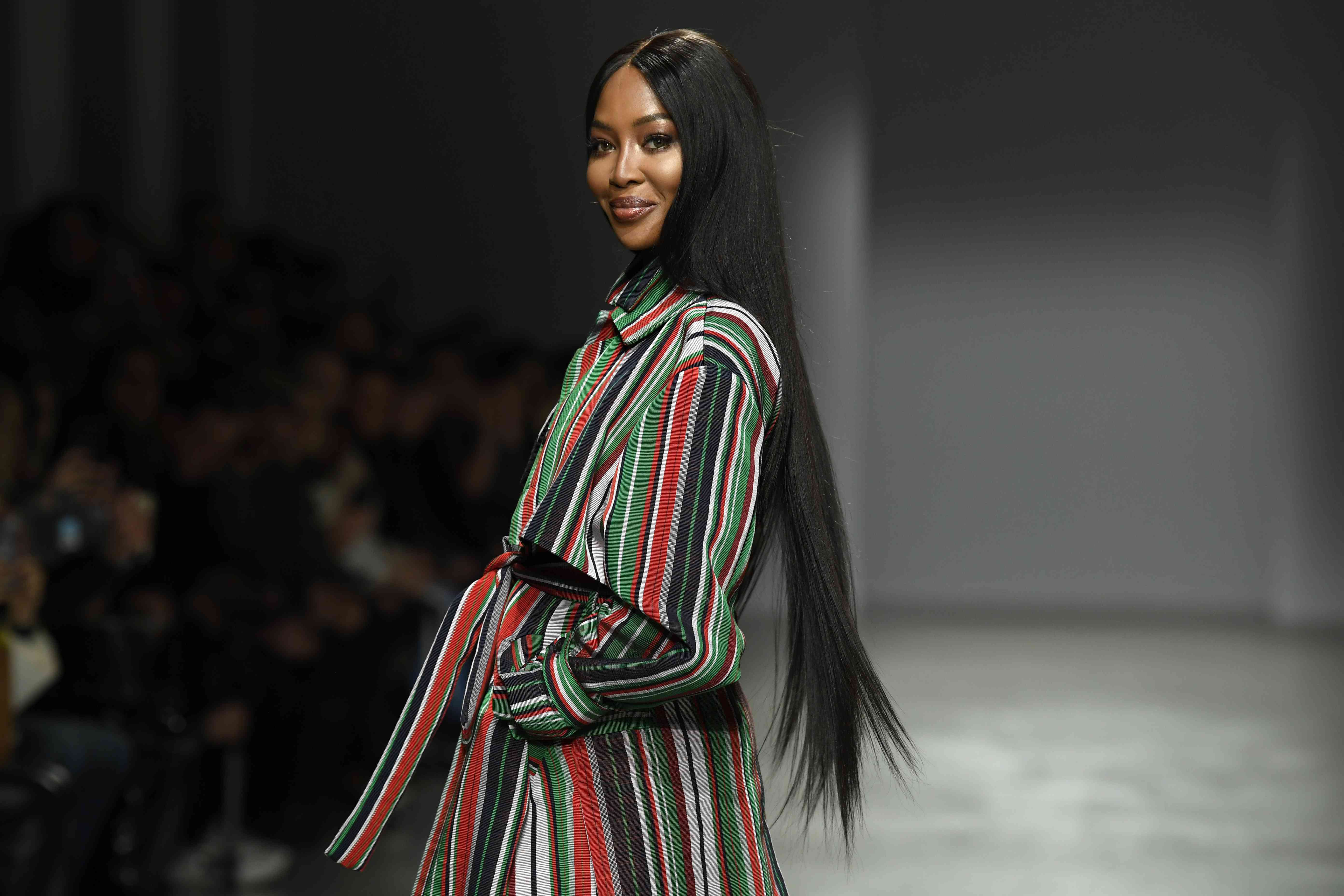 Naomi Campbell is a Mom