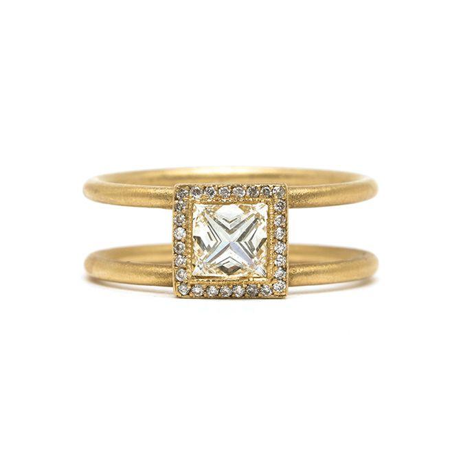 Sofia Kaman Stiletto Princess Diamond Engagement Ring
