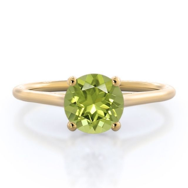 With Clarity Poise Basket Peridot Ring