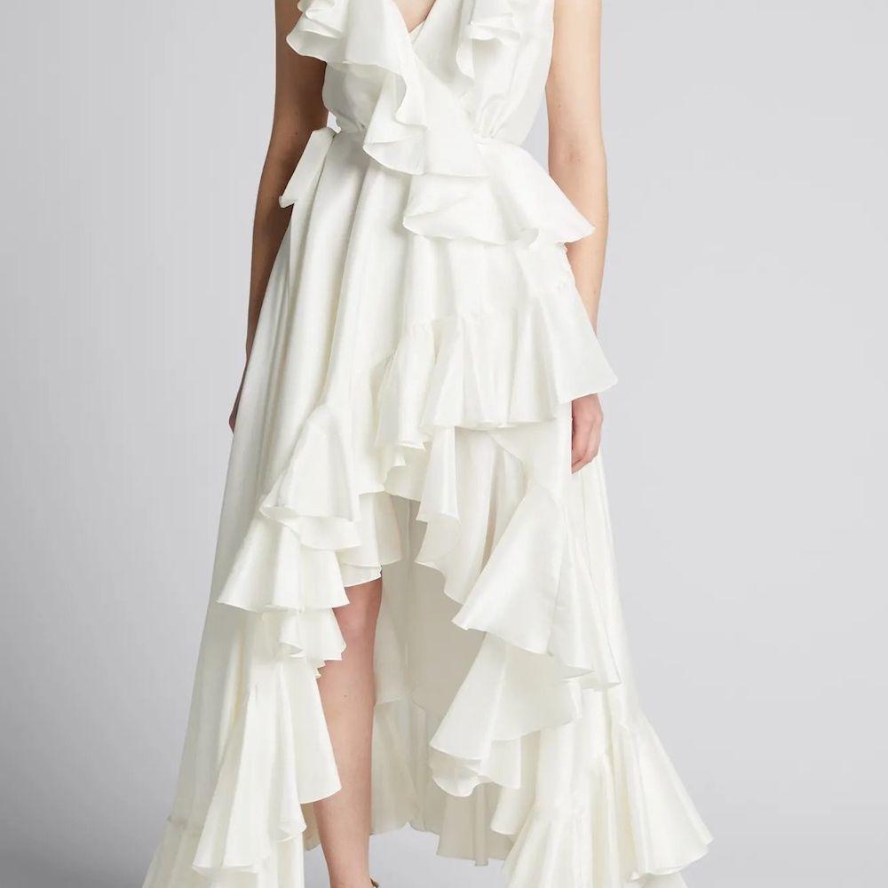 Azeeza Ollie Tiered Ruffle Midi Dress