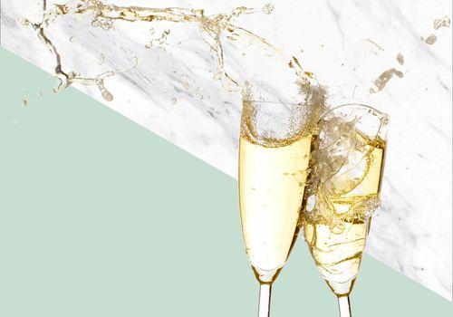Shattered Champagne Glasses