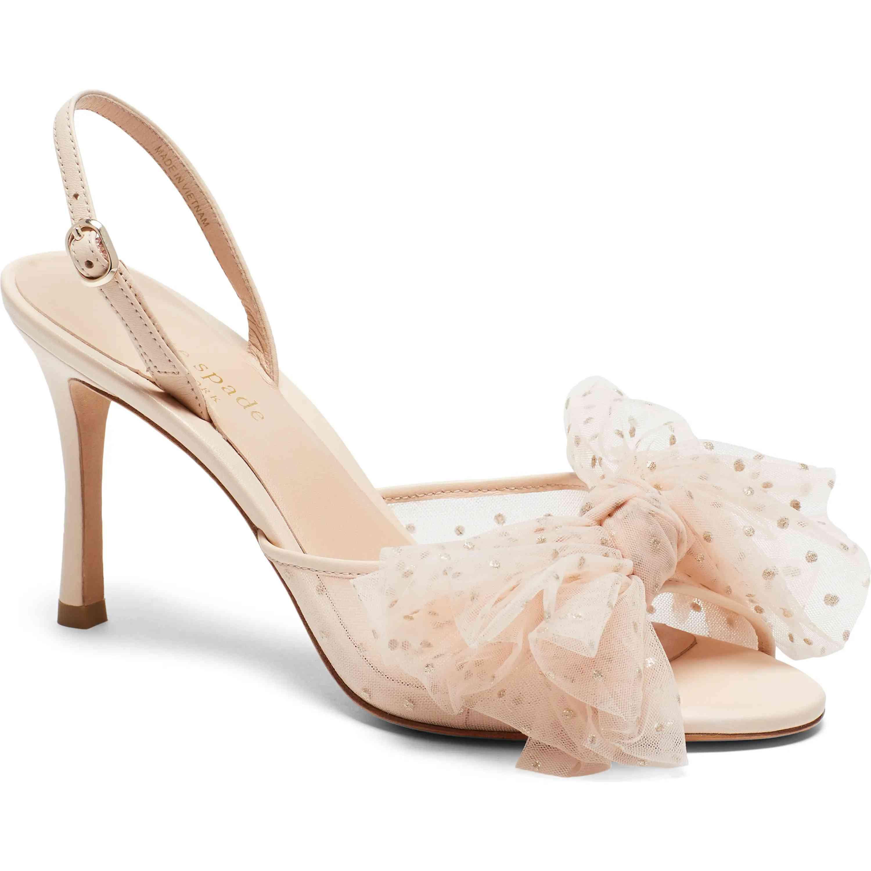 Womens Mid Heel Peeptoe Slingback Party Bridesmaid Wedding Bride Shoes Size