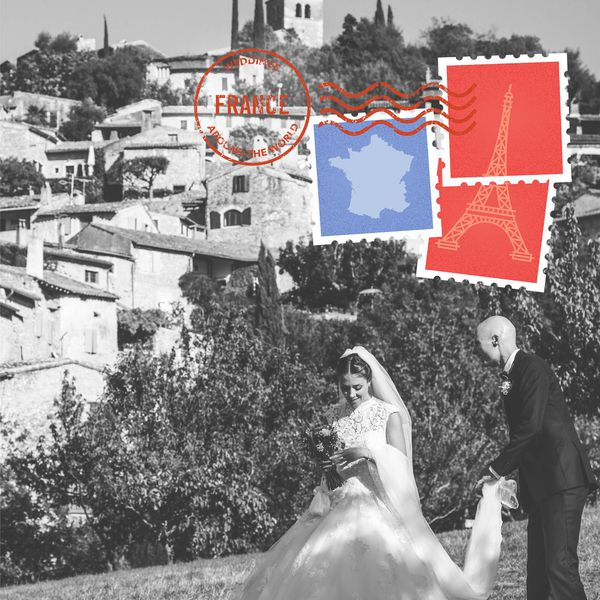 French wedding custom artwork