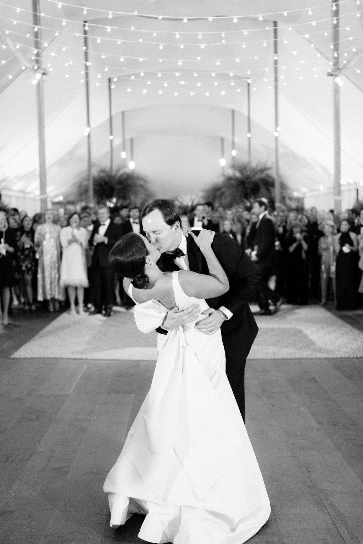 augusta wedding, couple on dance floor