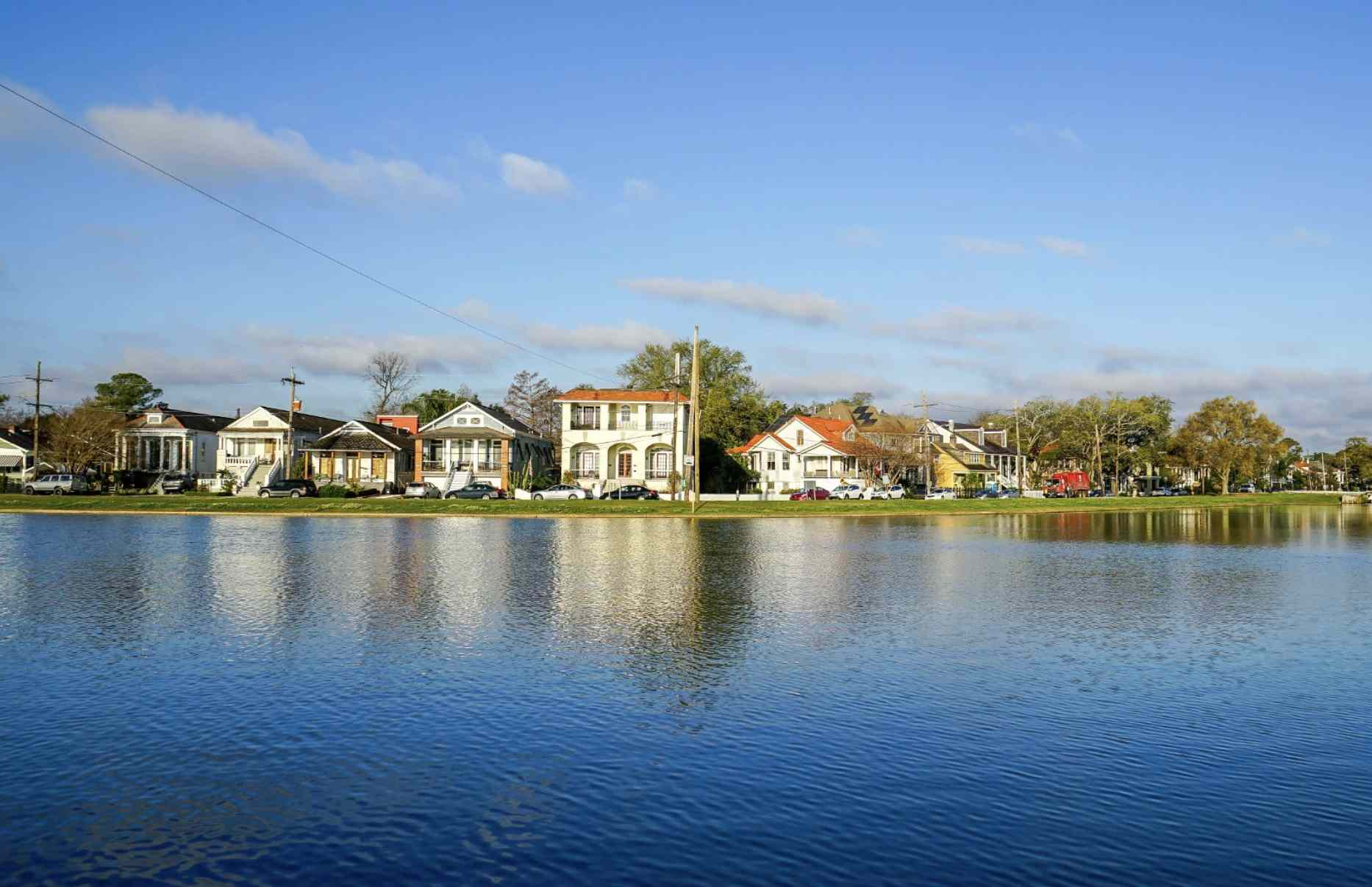 View of the Bayou St. John in New Orleans