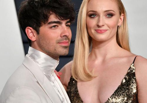Joe Jonas and Sophie Turner attend the 2019 Vanity Fair Oscar Party.