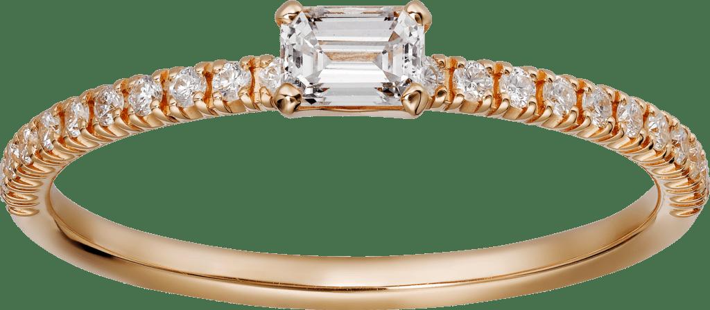 Elegant small diamond engagement ring