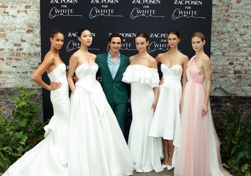 Zac Posen and bridal models