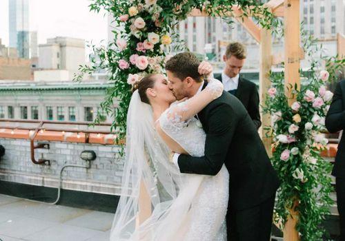 Intimate NYC Rooftop Wedding