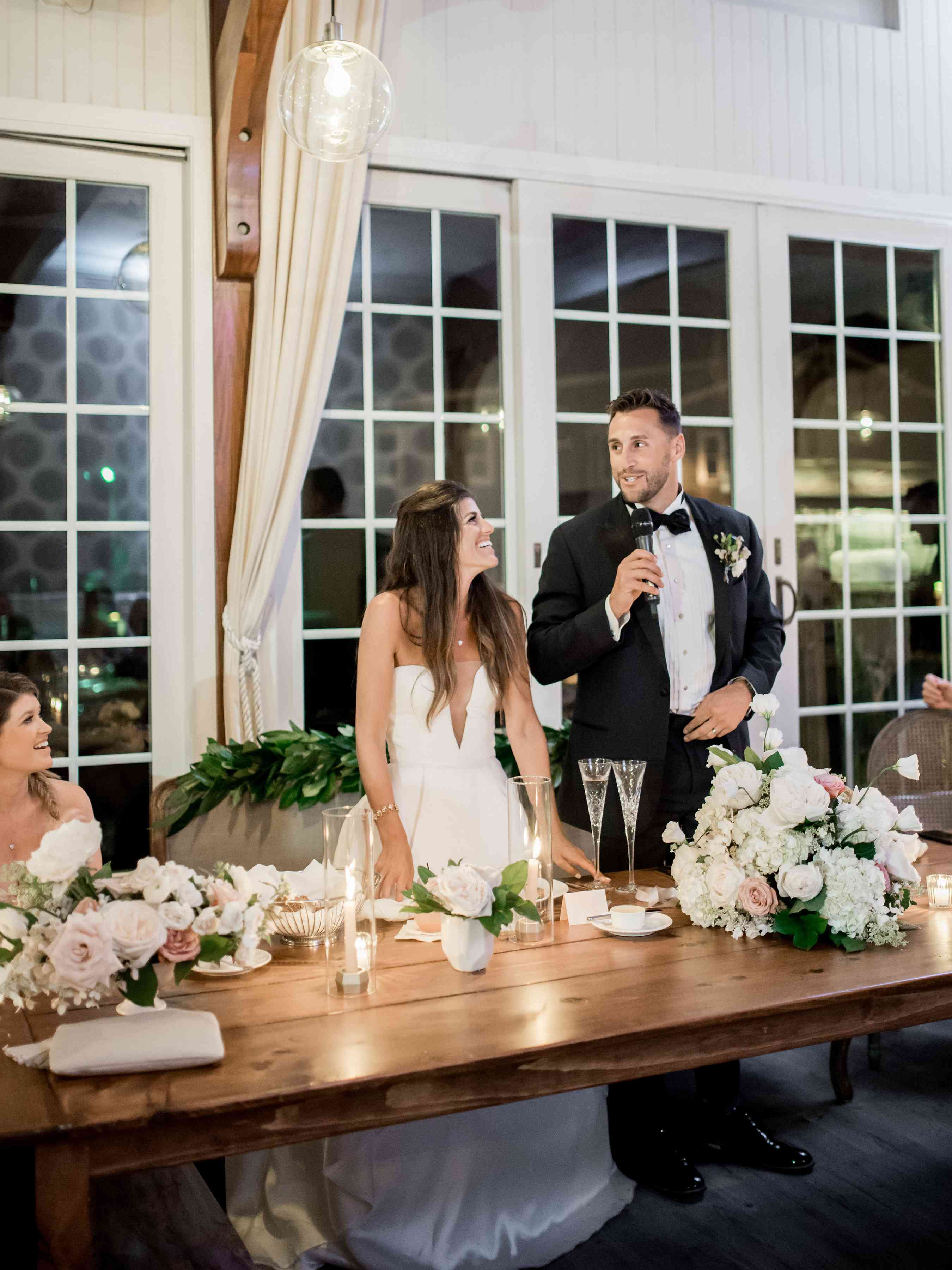 toasting at a wedding