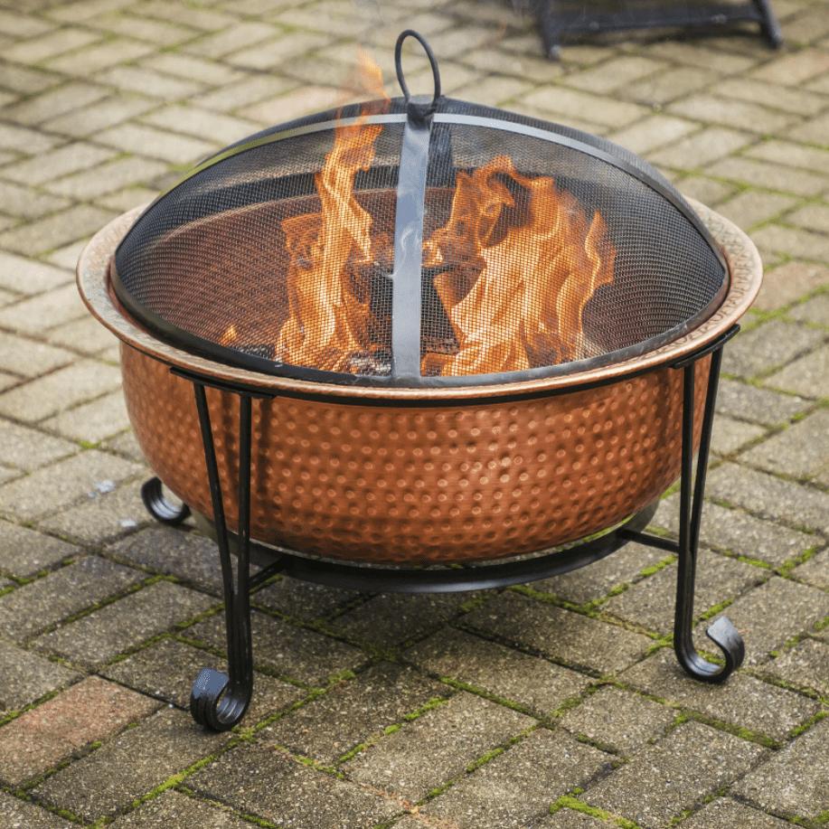 Ebern Designs Pyrite Vintage Copper Wood Burning Fire Pit