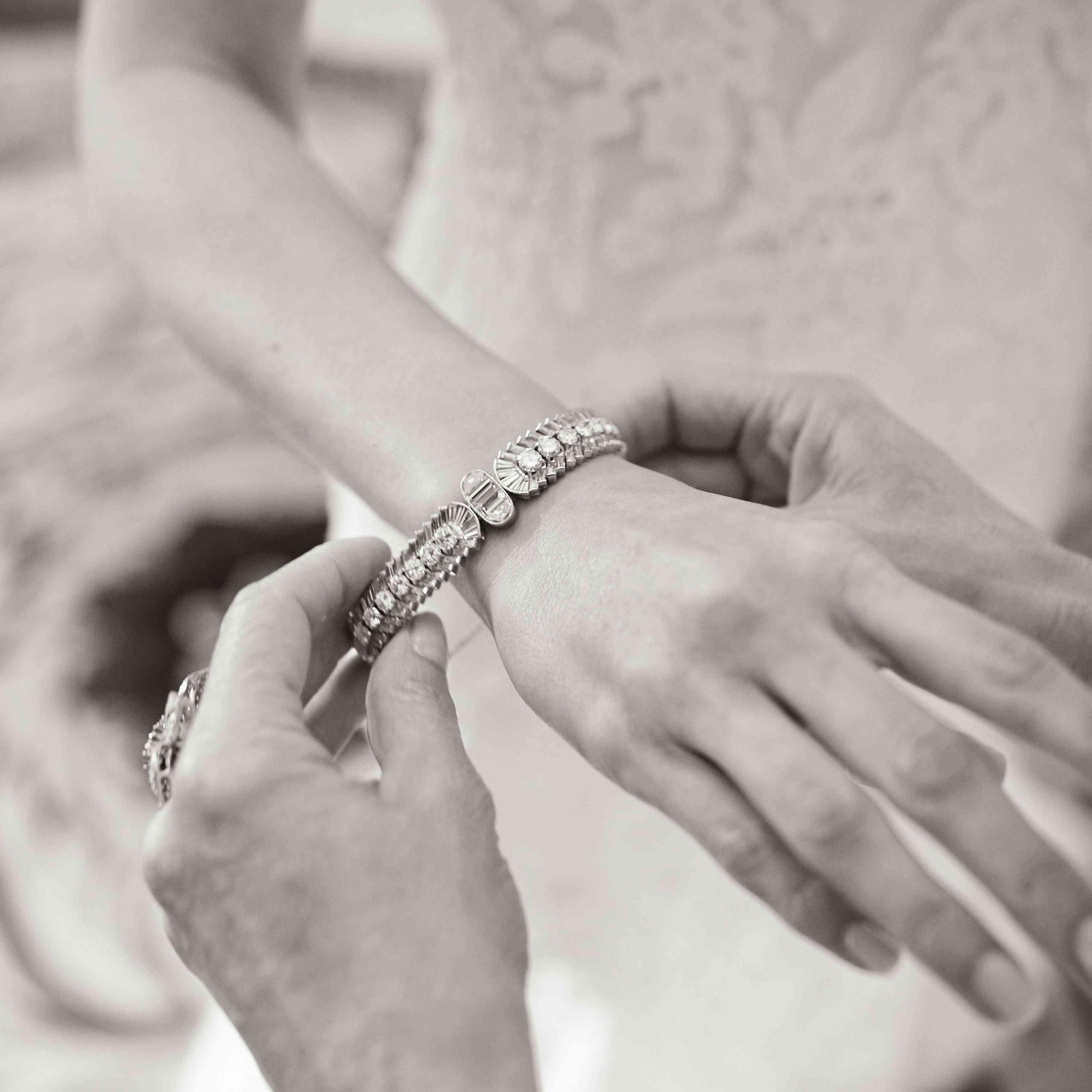 art deco wedding day jewelry
