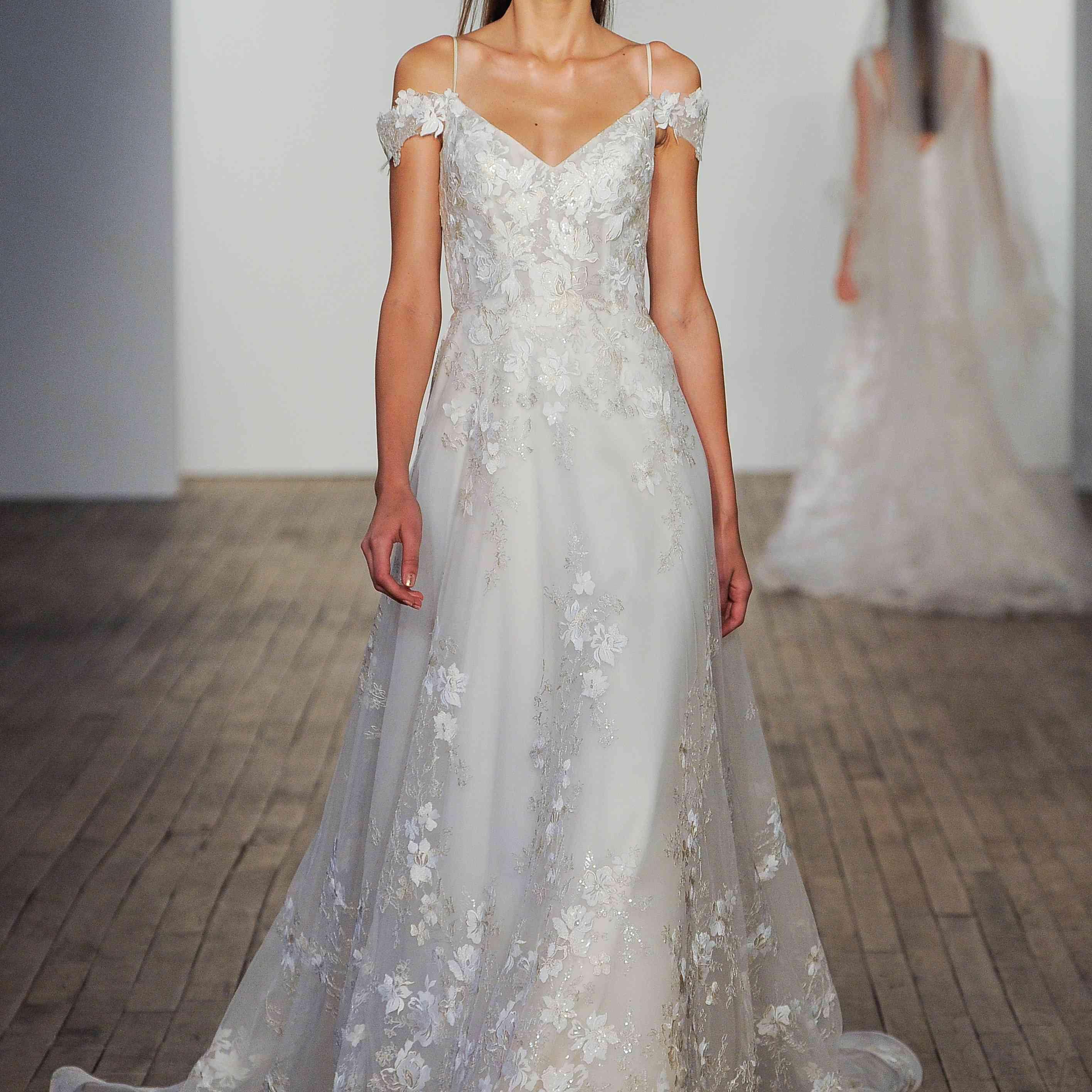 Margaret off-the-shoulder wedding dress