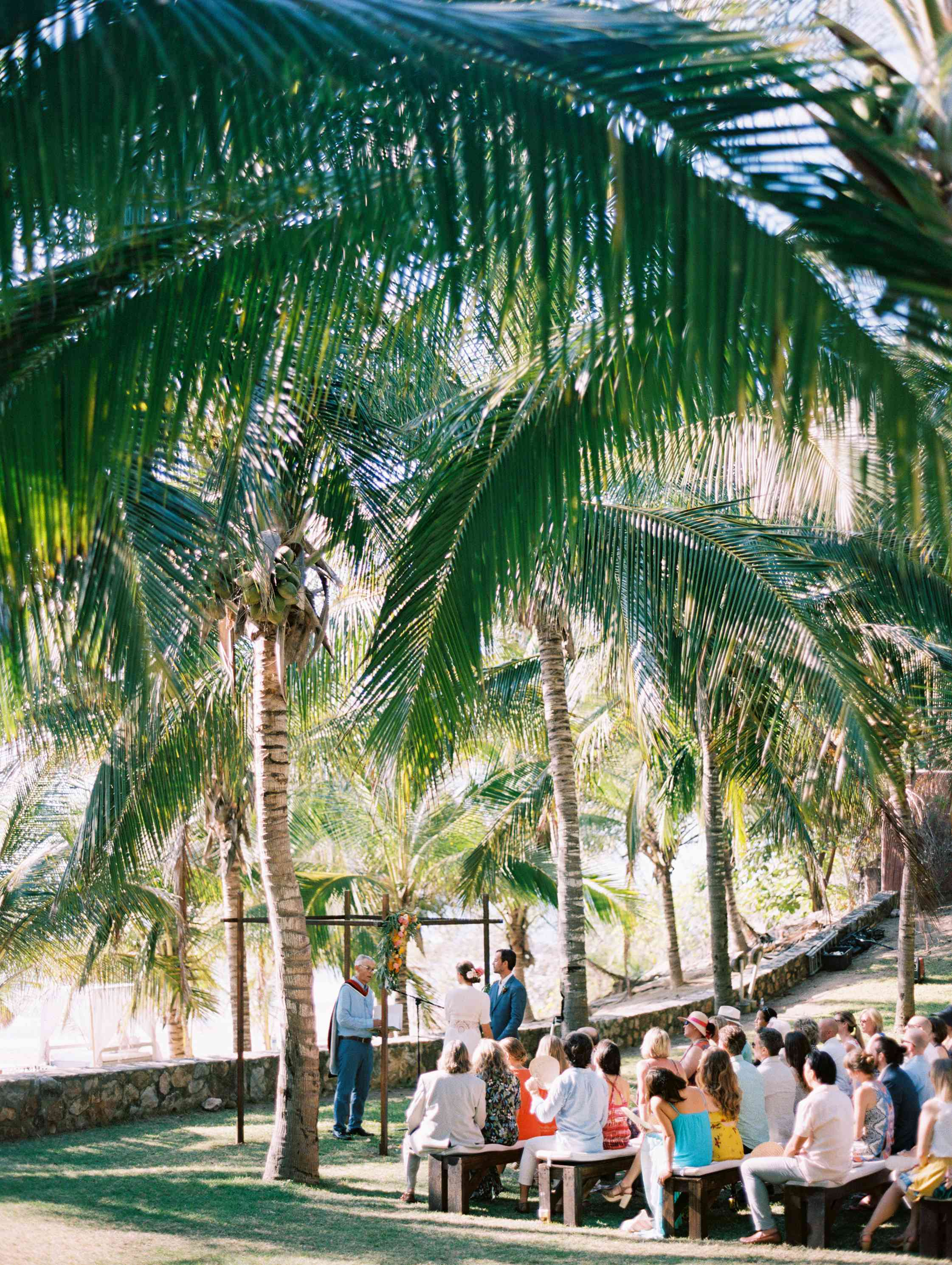 Tropical wedding ceremony venue