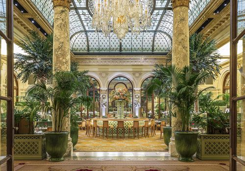 Palm Court at the Plaza Hotel New York City.
