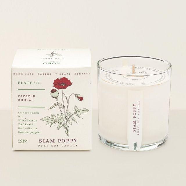 Siam Poppy Candle by Kobo