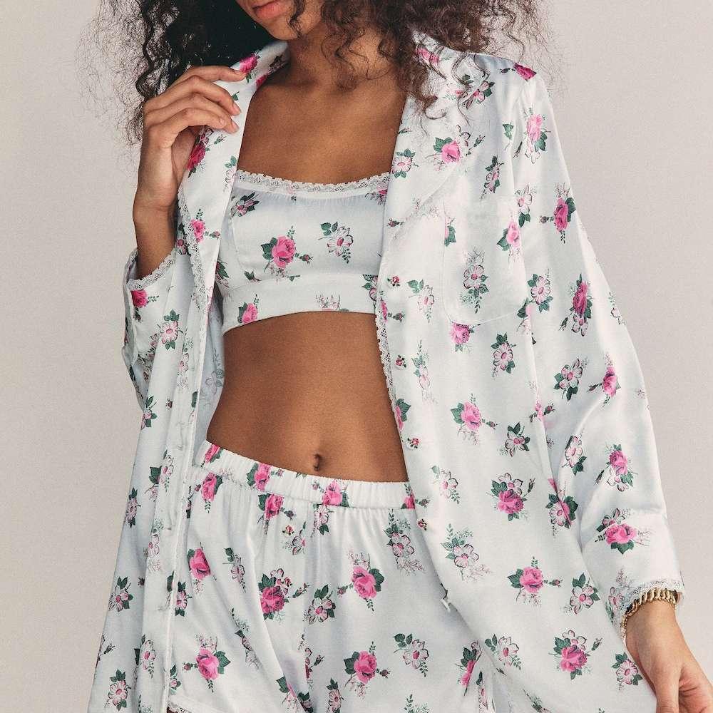 Bachelorette Party Pyjama Shorts Satin Set Mrs Bachelorette Pajamas Nightwear Wedding Gifts Bride Loungewear Piped Detail PJs, Bride Bridesmaid
