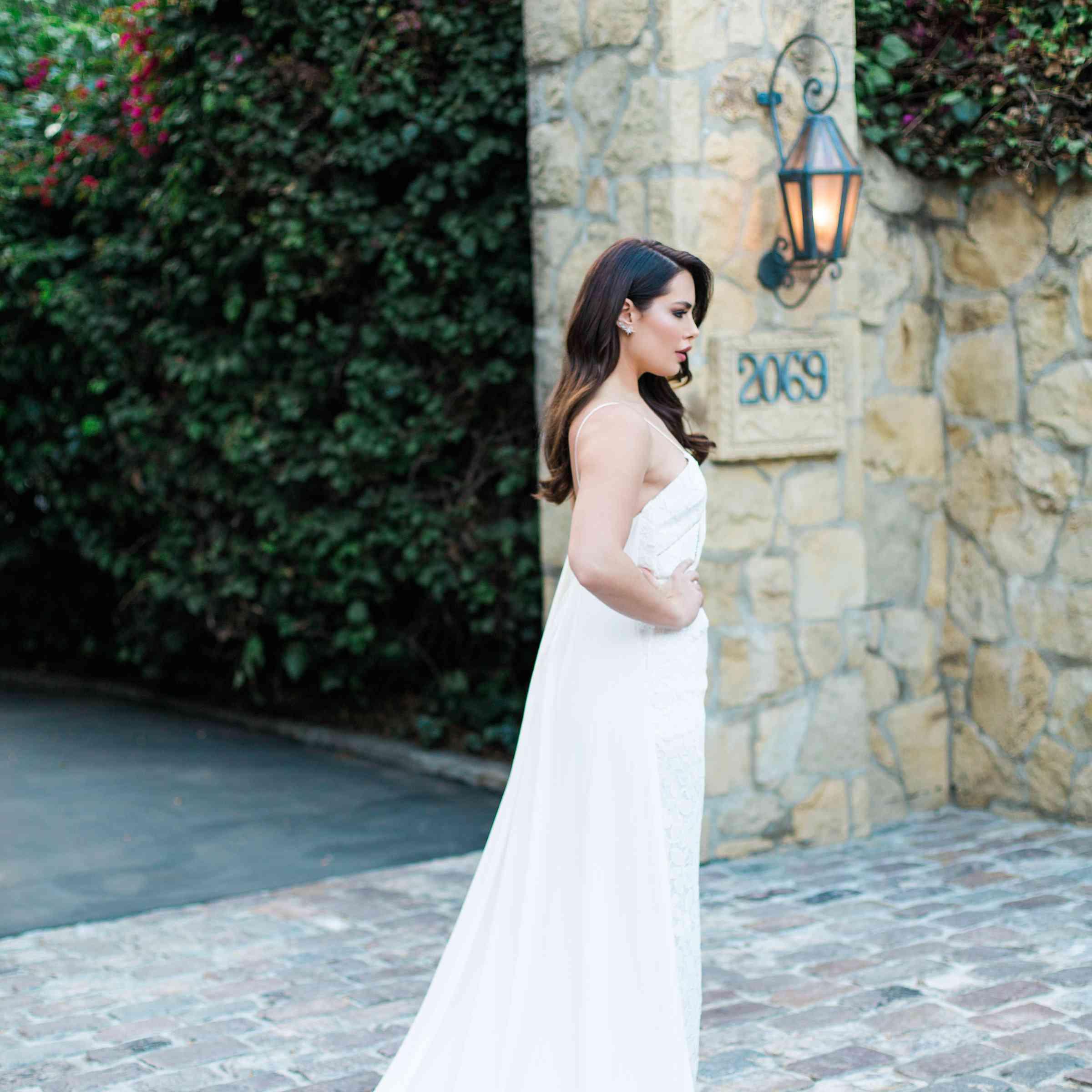 bride in self portrait
