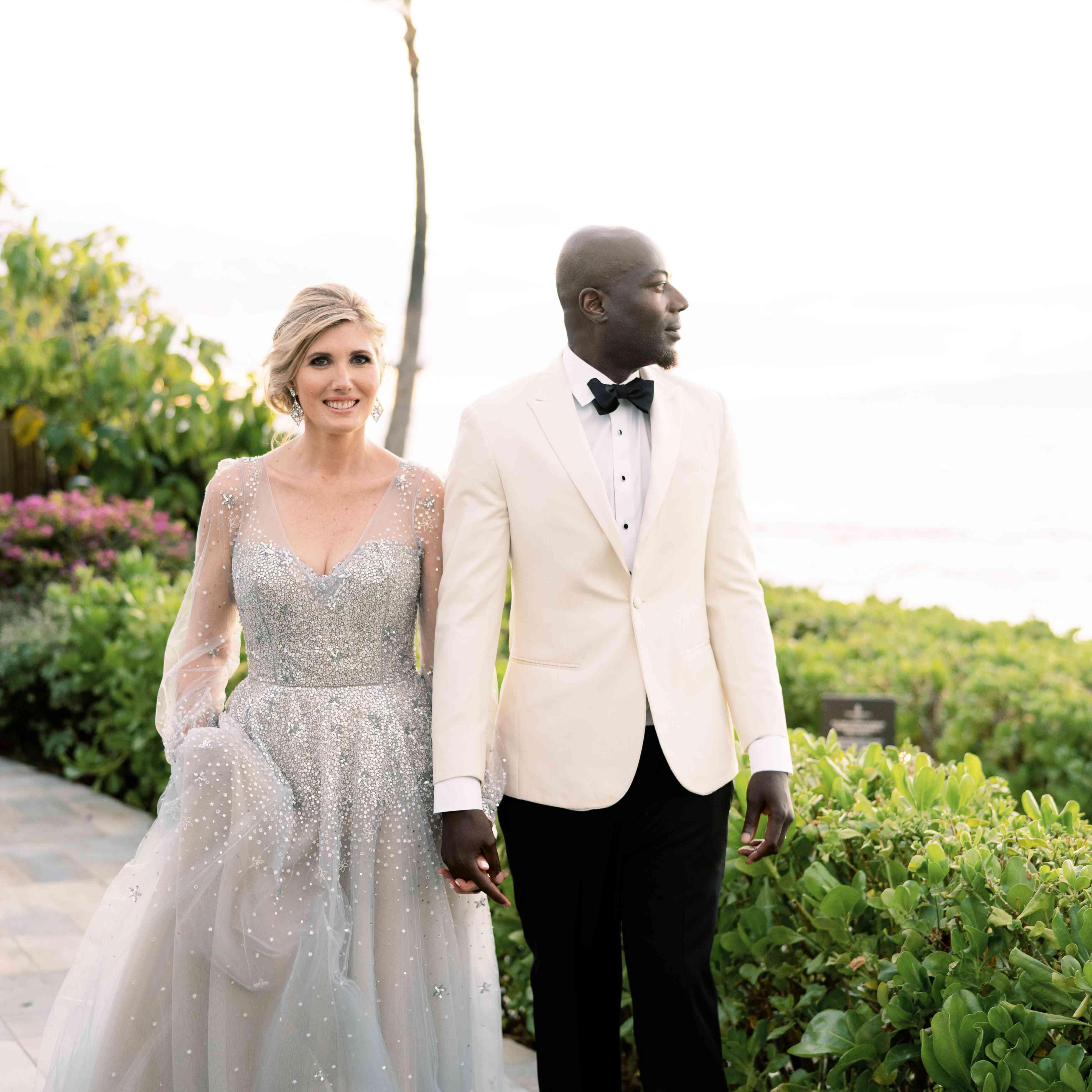newlywed bride and groom in Hawaii
