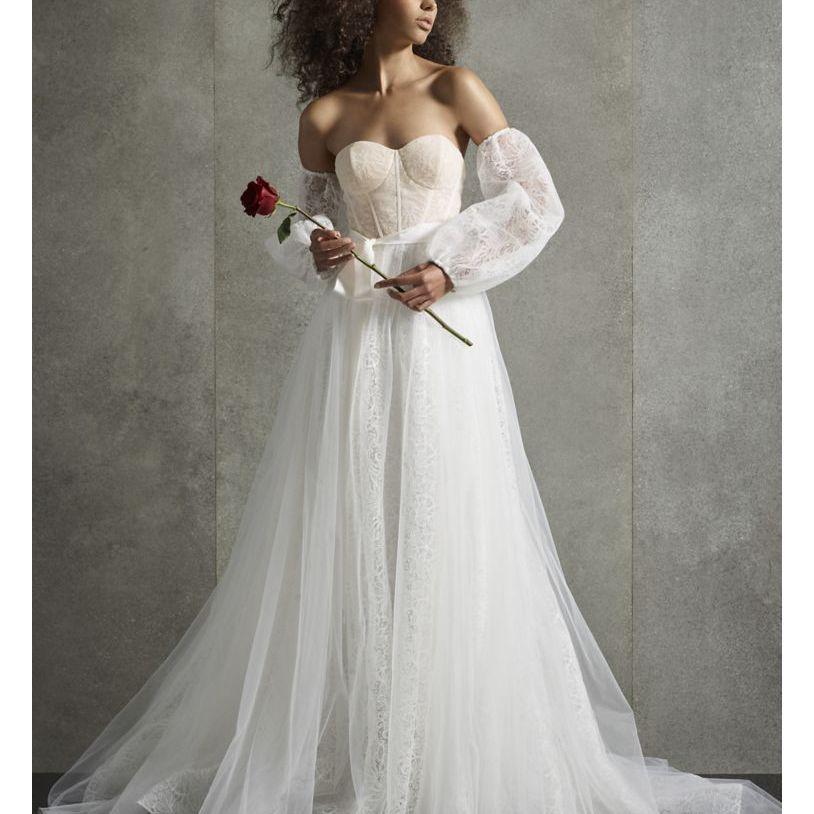 white by vera wang corset dress