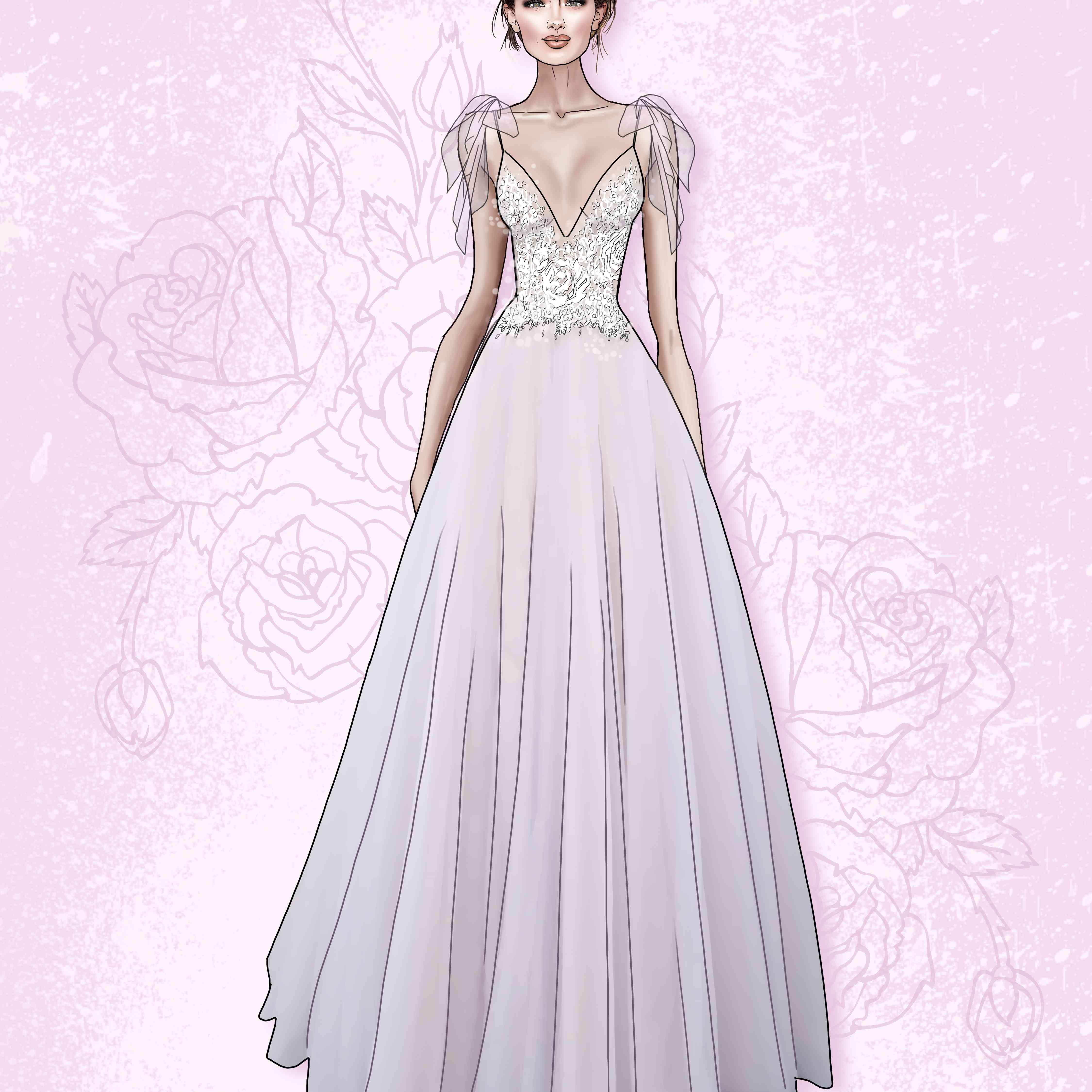 Wtoo by Watters Bridal Fashion Week Fall 2020 Sketch