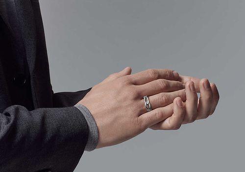 man wearing promise ring
