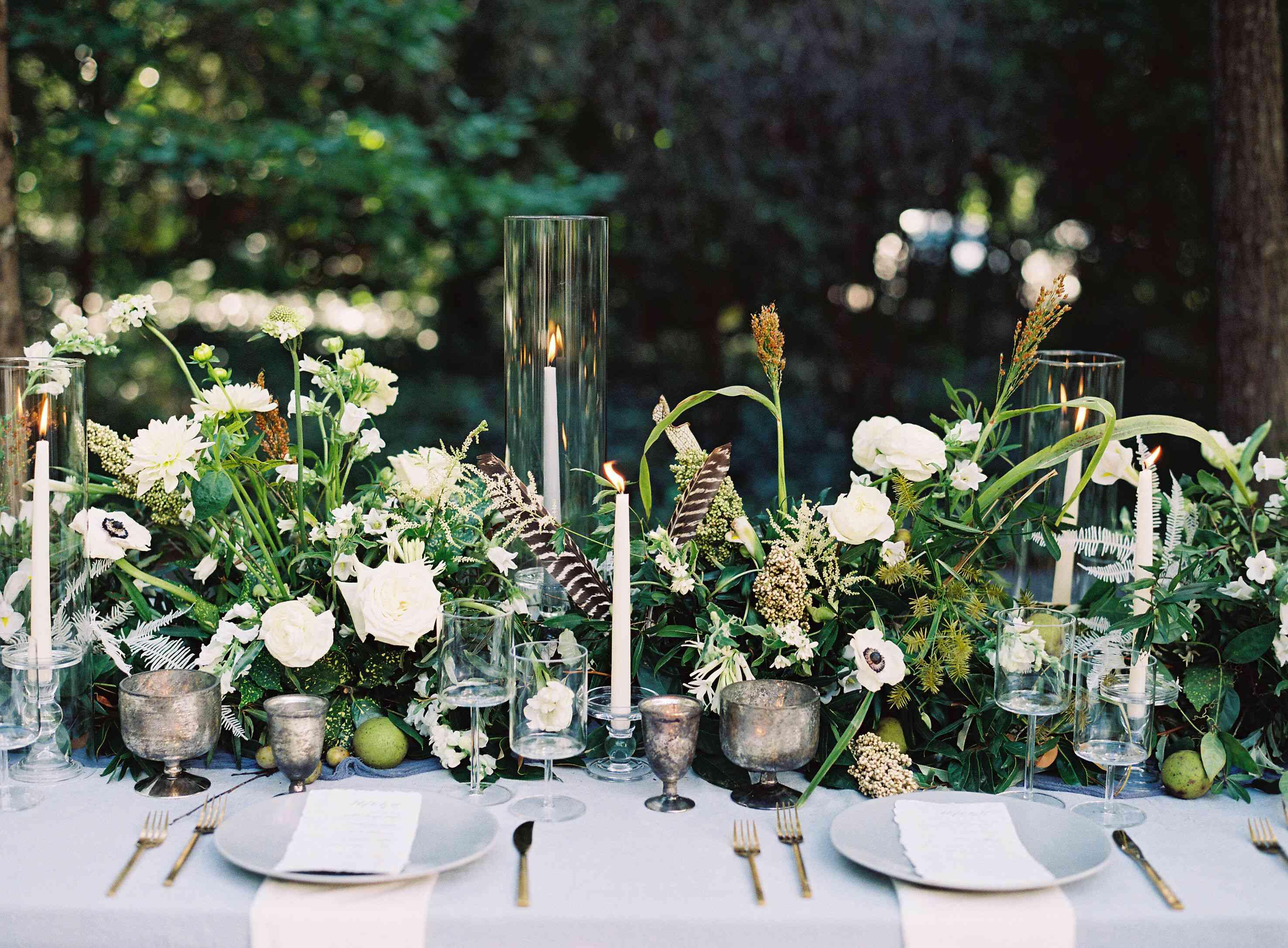 organic floral centerpieces